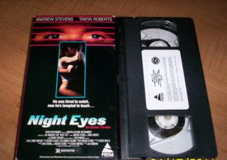 Night Eyes VHS Tanya Roberts Andrew Stevens 1990 NICE Prism Video