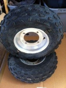 Good Front Tires and Wheels 21x7x10 4 156 Bolt Yamaha Banshee ATV