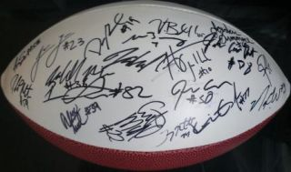 2012 USC Trojans Team Signed Football Certificate Proof Matt Barkley