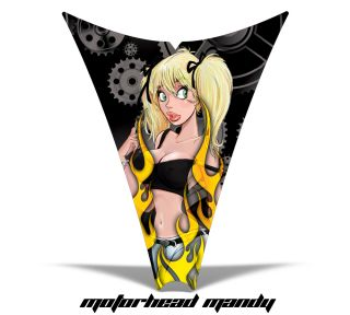 AMR RACING SLED HOOD WRAP GRAPHIC DECAL SKI DOO REV 04 12 PART