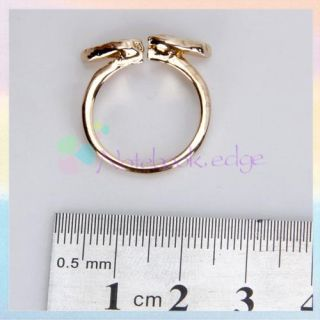Ladies Golden Angel Crystal Fly Wing Design Ring US6 5