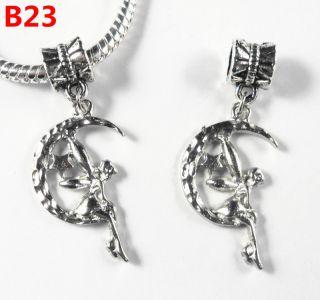 10 pcs Tibetan Silver Charms Angel Girl Dangle Beads Fit European