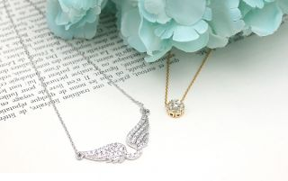 Hoyri Angel Wings Pendants Korean Star Necklace Wing Pendant Fashion