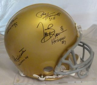 Notre Dame Fighting Irish Signed Heisman Proline Helmet w Huarte