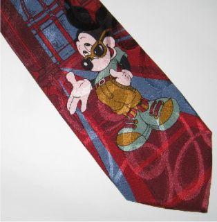 Andrews Tie Milano Silk Tie Italy Mickey Mouse G34