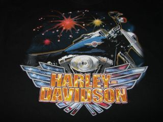 Harley Davidson Angleton Texas Mens T Shirt Size L