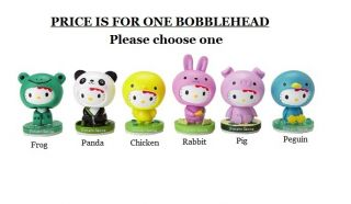 Hello Kitty Animal Mascot Bobbleheads Choose One