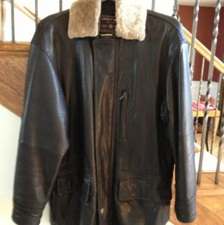 Andrew Marc Mens Leather Jacket Black Size M Retailed 800
