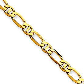 14k Gold Fancy Anchor Chain Necklace or Bracelet w Lobster Clasp