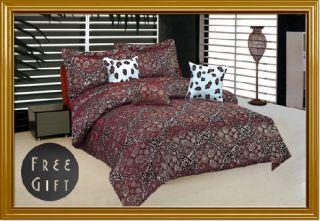 7pc Paisley Leopard Animal Print Jacquard Comforter Set Bedding King w