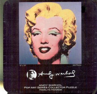 Marilyn Monroe Andy Warhol Pop Art Series Puzzle