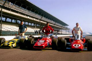 1969 Indy 500 Front Row Photo A J Foyt Unser Andretti