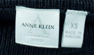 Anne Klein Petites Navy Front Tie Sleeveless Sweater Pristine Sz P XS