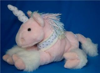 Animal Alley Pink Silver White Unicorn Horse Plush Toy