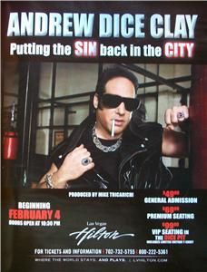 Andrew Dice Clay The Hilton Hotel Casino Las Vegas Ad