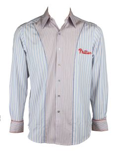Robert Graham Mens MLB Philadelphia Phillies Striped L s Shirt $198