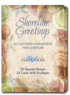 Shoreline Assorted Scriptured Greeting Cards Box of 25