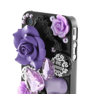 New Anna Sui 3D Fairy Tale Hard Shell Case for iPhone 4 4S Purple