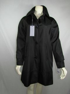 New Marc New York by Andrew Marc Womens Raincoat Trench Coat Black