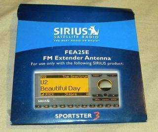 Sirius Satellite Radio FM Extender Antenna Model FEA25E