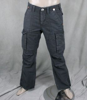 True Religion Jeans Mens Anthony Cargo Pants Charcoal Grey Gray