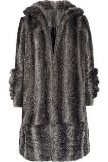 Anna Sui Faux Fur Persian Lamb Coat Hollywood Glamour Ret for $645 M L