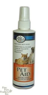 Pet Aid Anti Itch Spray for Dogs Cats Flea Allergies