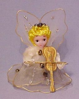 Old Delta Novelty Pipecleaner Angel w Violin Ornament