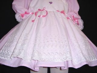 Adult Sissy Baby Dress Gingham Pinny by Annemarie
