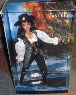 Angelica Pirates of The Caribbean Penelope Cruz Barbie Doll Pink Label