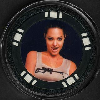 Set of 3 Angelina Jolie Poker Chip Card Guard Cover