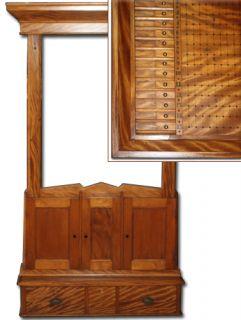 Antique Victorian Cue Rack and Scoreboard