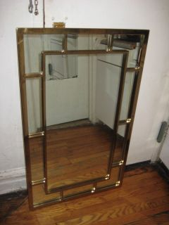 RARE 1960s Style Vintage Thomasville Gold Beveled Wall Mirrors