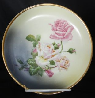 Antique Altwasser Bavaria China Plate Roses Germany