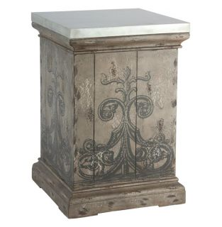 Tracery French Country Antique Hand Painted End Table