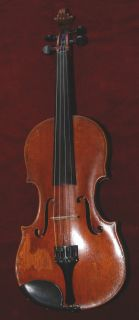 Antique German violin labelled Sebastian Klotz and wooden case