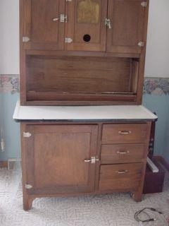 Hoosier Antique Sellers Cabinet Roll Top