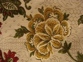 Victorian Rose Flower Gold Embroidery Tapestry Placemat