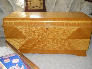 art deco waterfall antique lane bedroom cedar blanket chest