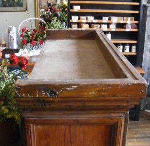 Antique Old Wood Writing Secretary Open Desktop Desk with Wooden Hutch
