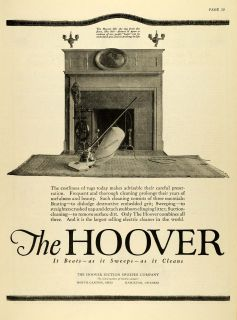 1920 Ad Antique Hoover Vacuum Sweeper Cleaner Household Appliances