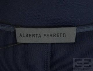 Alberta FERRETTI Navy Blue Jersey Knit Sleeveless Dress Size US 8