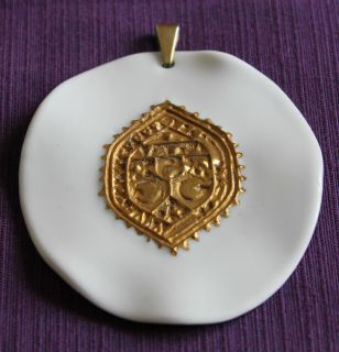 Anton Michelsen Royal Copenhagen pendant porcelain with bail Danish