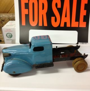 Wyandotte Antique Toy Truck with Wooden Wheels
