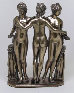 THREE GRACES CHARITES EUPHROSYNE AGLAEA THALIA FIGURINE FIGURE STATUE