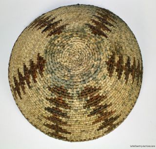 Vintage Apache Large Woven Coiled Basket Native American Indian Art