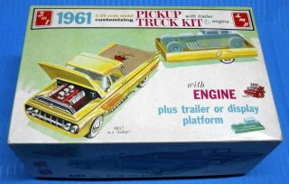AMT 1961 Chevrolet Apache Pickup Truck Trailer K 731 Model Car Swap
