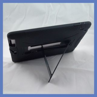 Black Black Apple iPad 2 Case with Stand Heavy Duty Protective Hard