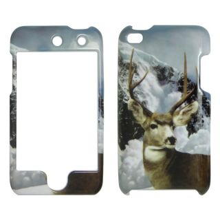 Apple iPod Touch 4 Wild Snow Buck Deer Real Tree Camo Case Cover Snap