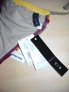 nwt vix hermanny julia long triangle bikini top m $ 92